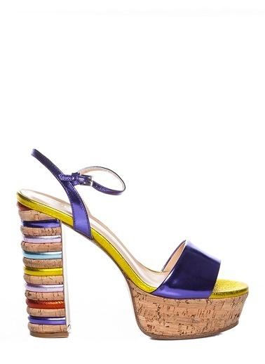 Efem Topuklu Ayakkabı Mor
